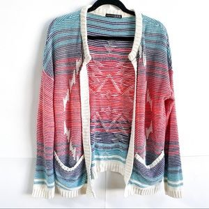 Atmosphere Tribal Knit Cardigan 90s Inspired